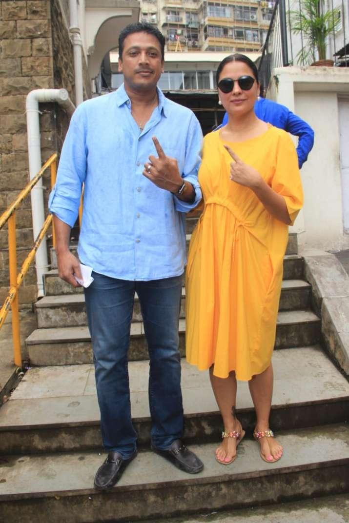 Lara Dutta with husband