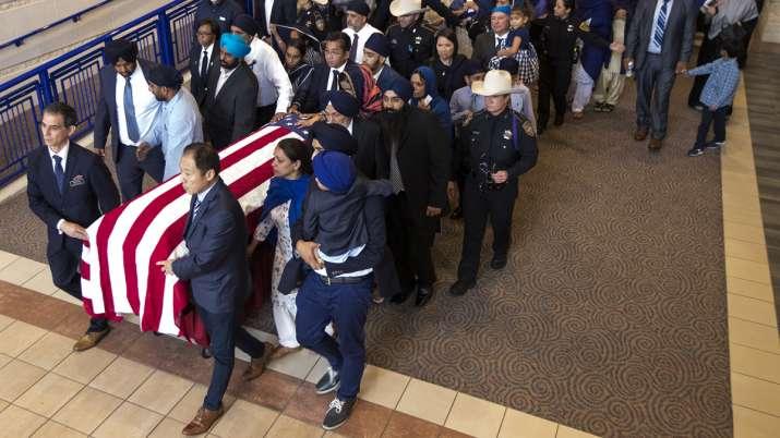 Thousands mourn slain HCSO Sikh Deputy Sandeep Dhaliwal
