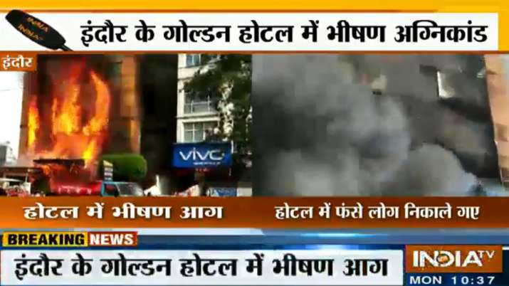 Fire in Golden Hotel of Indore