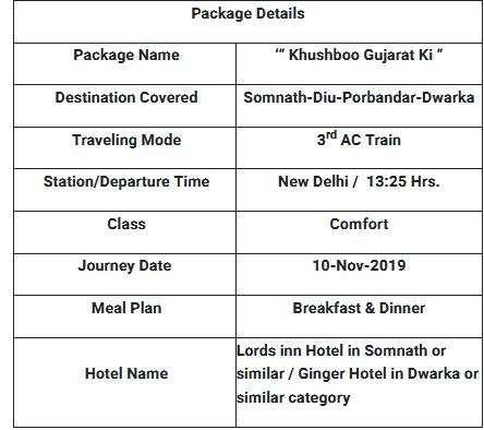 Gujrat tour package