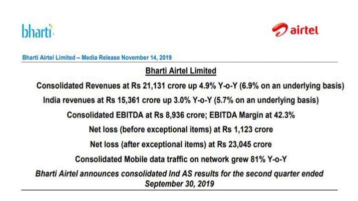 bharti airtel result
