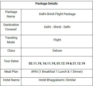 irctc tour package to shirdi and shani signapur