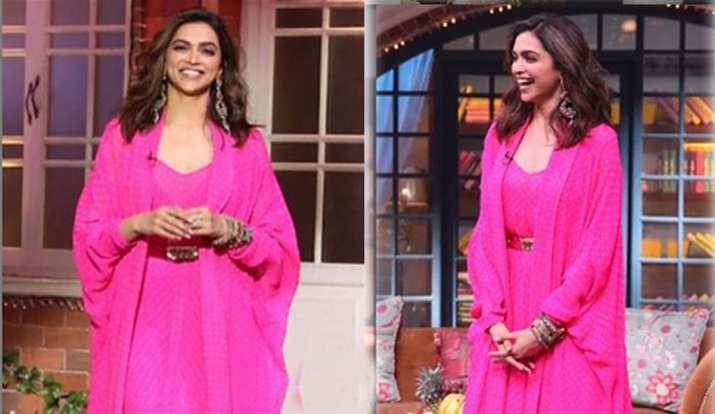 Deepika padukone looks stunning pink ensemble in shoots ...