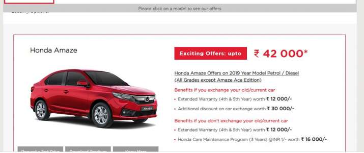 buy your favourite Honda car at an amazing discount