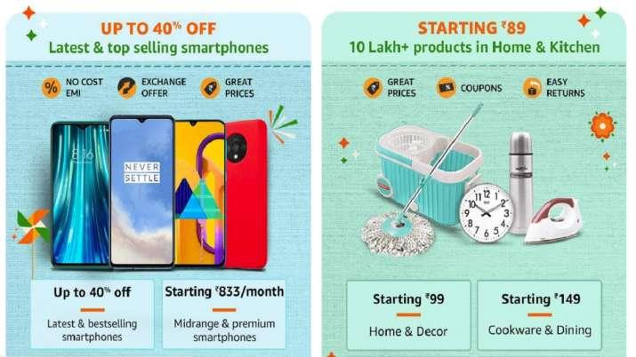 amazon discount offers on smartphones, Amazon Great Indian sale 2020, Amazon sale, Amazon India