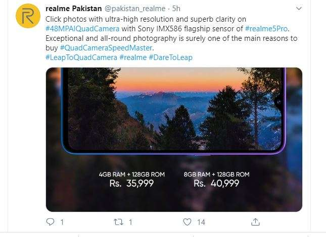 Realme and Xiaomi smartphones in India and Pakistan have such a difference in price