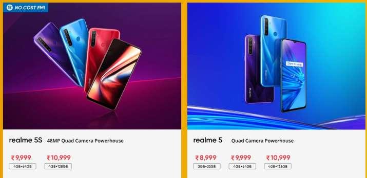 realme sale 2020, realme, Realme smartphones, smartphones, Realme 5s, Realme 5 price