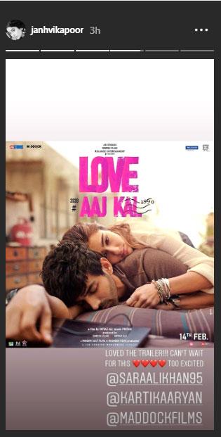 Janhvi Kapoor Love Aaj Kal Trailer