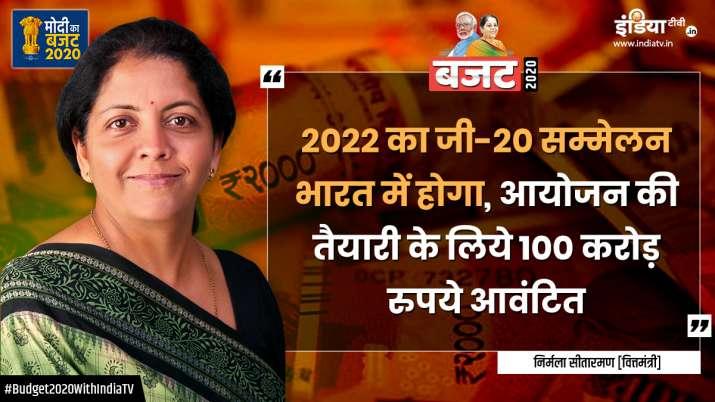 India G20, India G20 Presidency in 2022, watch budget speech live, finance minister speech