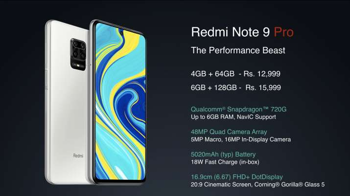 Xiaomi Redmi Note 9 Pro, Redmi Note 9 Pro Max unveiled in India: Price, features and more