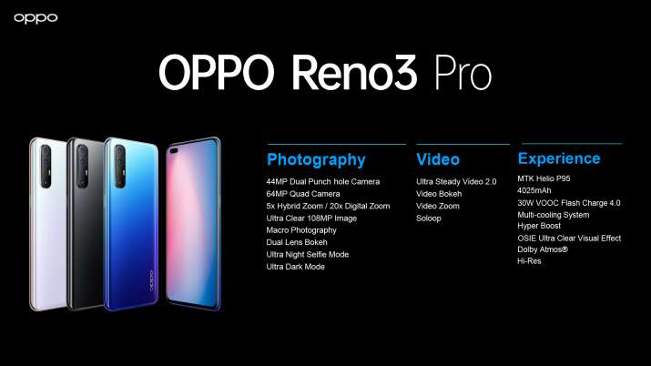 OPPO Reno3 Pro with dual punch-hole selfie camera in India