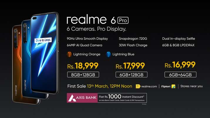 Realme 6 series with 90Hz display launched in India