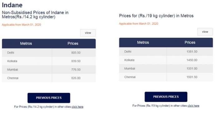 non-subsidised LPG gas cylinder Price