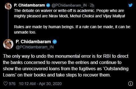 p-chidambaram tweet