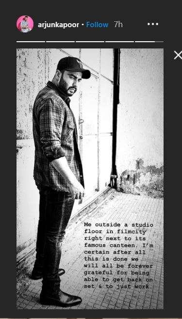 arjun kapoor instagram story