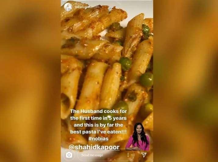 शाहिद ने मीरा के लिए बनाया पास्ता