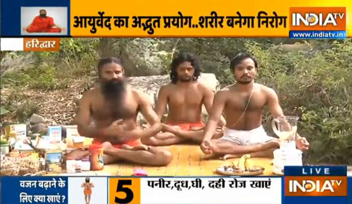 weight gain, health, yoga for 6 abs, swami ramdev