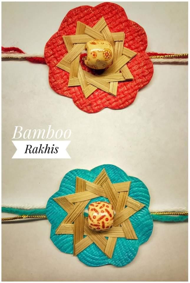 Bamboo Rakhi made by Minakshi