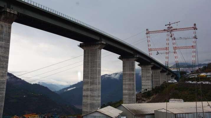 Chenab bridge world-highest railway bridge by Indian Railways connecting Jammu and Kashmir