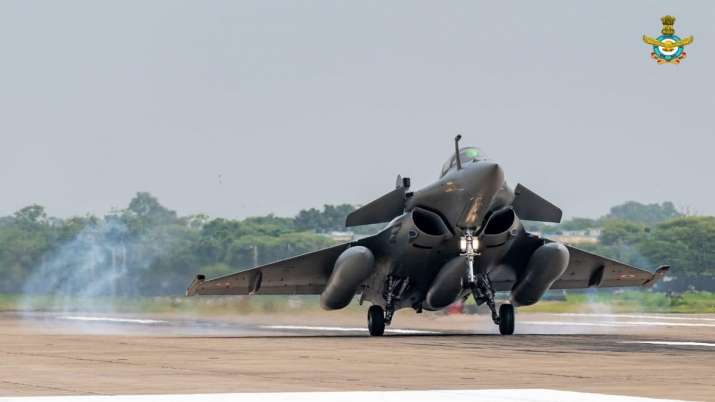 Unseen pictures of Rafale aircraft at Ambala Airbase
