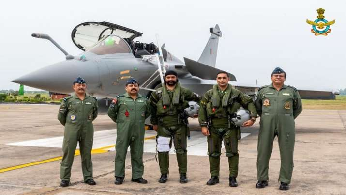 Rafale aircraft at Ambala Airbase