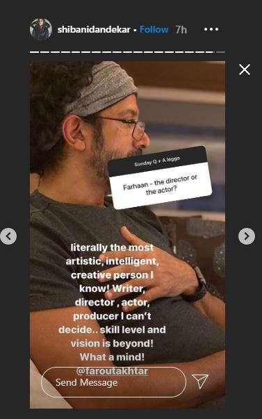 shibani dandekar instagram story