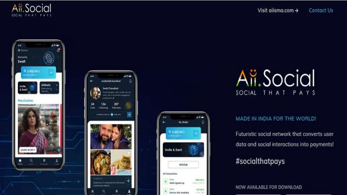 Aiisma launches Aii.Social, India's first own my data my asset social platform