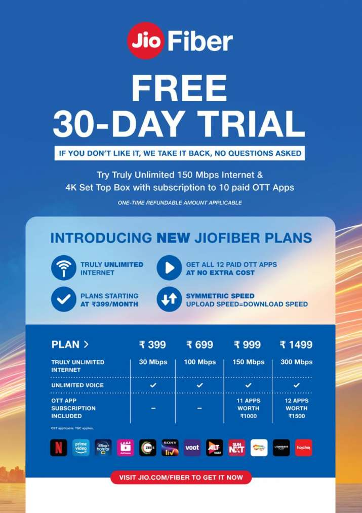JioFiber announces 30-day free trial for all new users