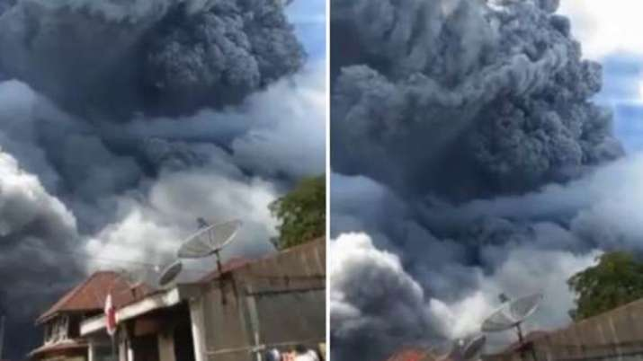 Mount Sinabung in Indonesia erupted