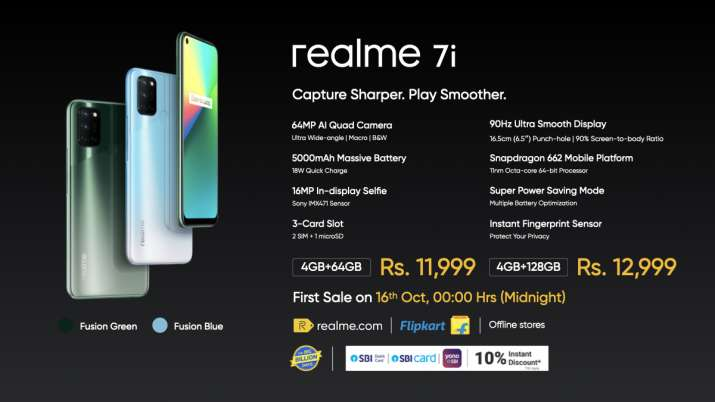 Realme 7i, 5000mAh Battery, Snapdragon 662 SoC