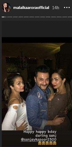 Amrita Arora, Sanjay Kapoor and Malaika Arora