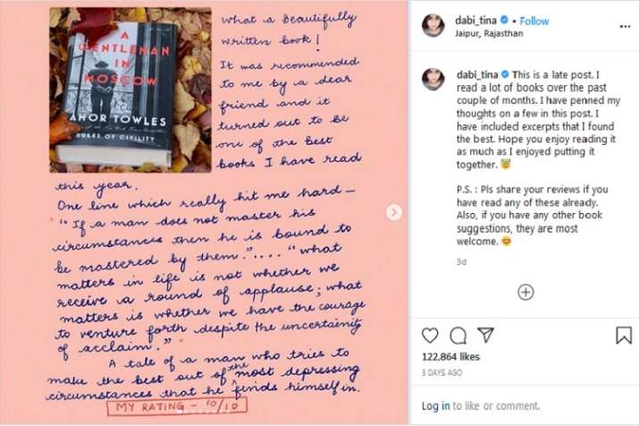 Tina Dabi Instagram Post