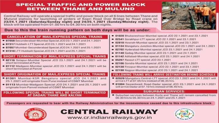 यात्रीगण कृपया ध्यान दें, कई मेल और एक्सप्रेस ट्रेनें रद्द की गई, देखें लिस्ट