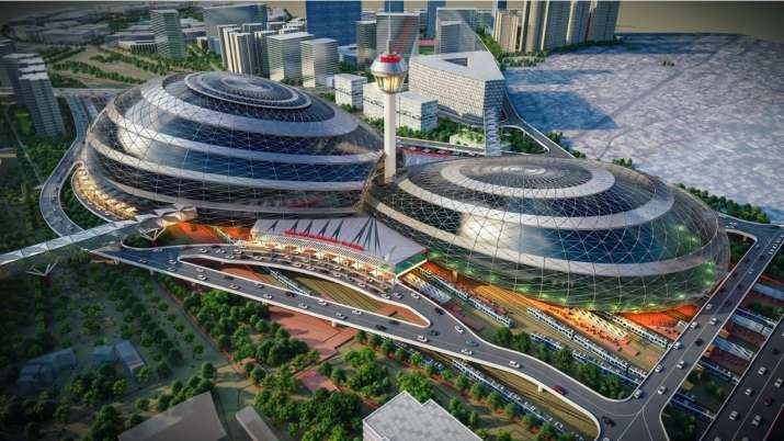 indian railways released projected images of New delhi railway station
