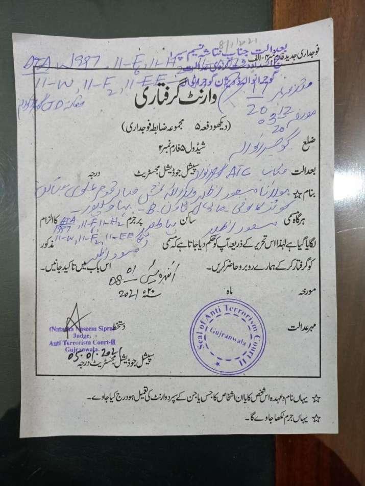 pakistan court issues arrest warrant for jem terrorist masood azhar