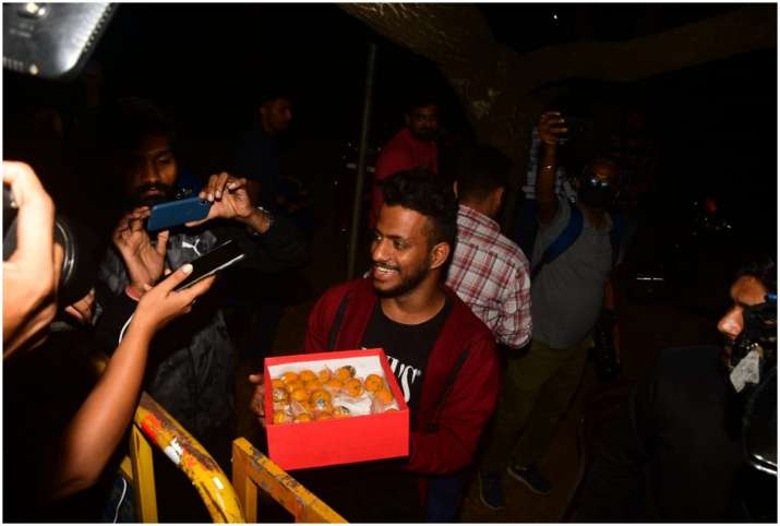 Varun Dhawan ties the knot with Natasha laddo distribution for media