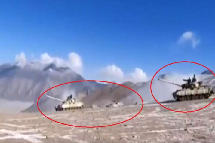 chinese tank move back eastern ladakh galwan valley lac video