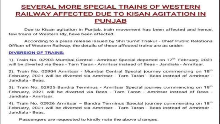 रेल रोको: ट्रेनों की पोजिशन जानकर ही घर से निकलें यात्री, कई ट्रेनों का रूट बदला