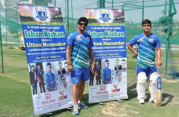 Ishan Kishan with Coach Uttam Majumdar
