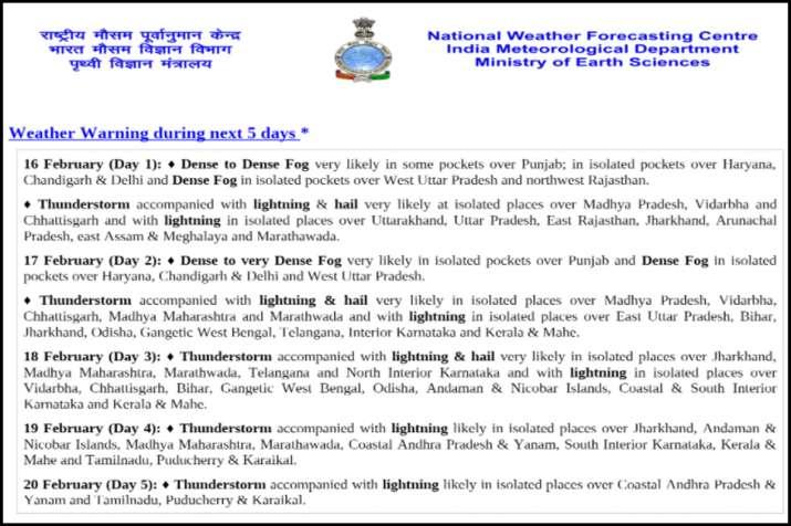 IMD alert weather forecast updates rains with thunderstorm hail storm uttar pradesh madhya pradesh