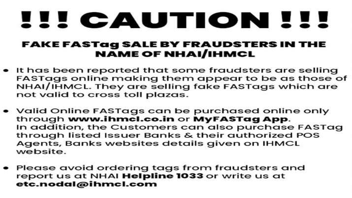 सावधान! FASTag को लेकर NHAI ने जारी की चेतावनी, वाहन चलाने वालों के लिए बड़ी खबर