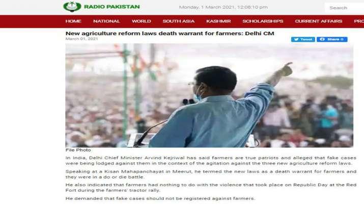 दिल्ली के मुख्यमंत्री अरविंद केजरीवाल का बयान पाकिस्तानी मीडिया में छाया हुआ है