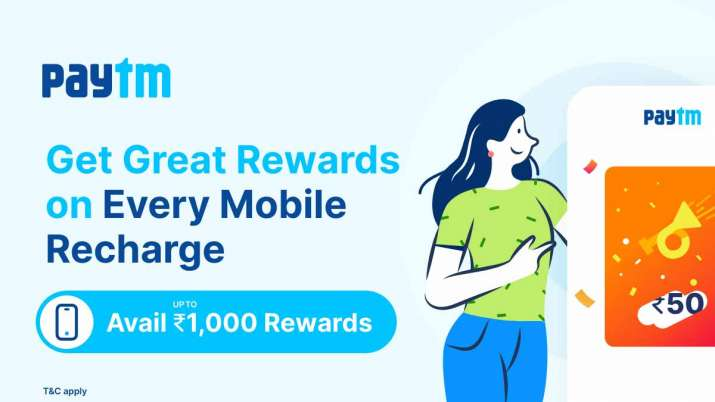 Paytm offers rewards up to Rs. 1000 on jio, Airtel, Vi, BSNL, MTNL mobile recharges