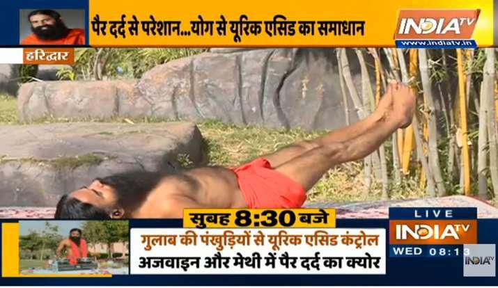 पैरों में सूजन हो सकता है बढ़े हुए यूरिक एसिड का संकेत, स्वामी रामदेव से जानिए इसे कंट्रोल करने का ब