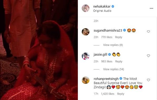 neha kakkar backstage rehearsal on her wedding surprise for husband rohanpreet singh