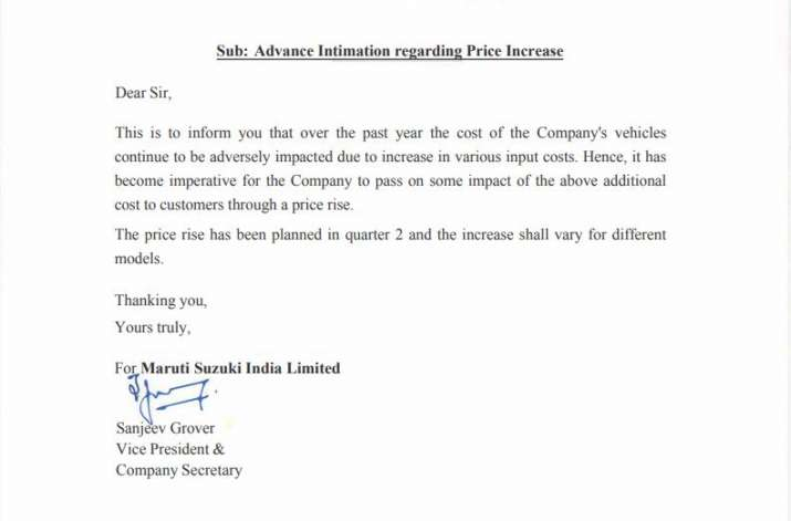 Maruti Suzuki India to hike car prices in July amid rise in input costs