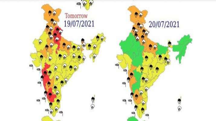 पूरे भारत में Red से लेकर Yellow अलर्ट