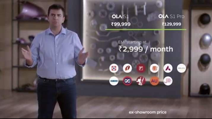 Ola ने लॉन्च किया S1, S1 Pro इलेक्ट्रिक स्कूटर, कीमत मात्र 85000 रुपए से शुरु