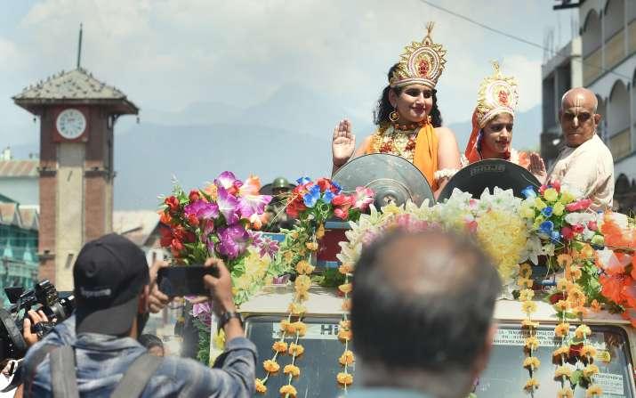 srinagar lal chowk shri krishna janmashtami celebration images