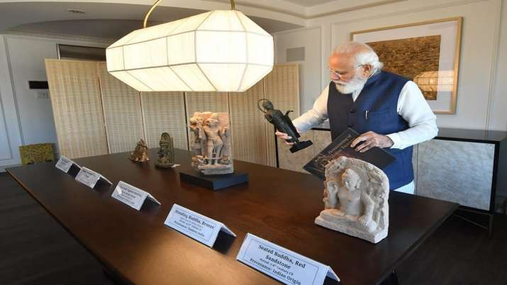 PM Modi to bring back 157 antiquities, antiquities handed over by US